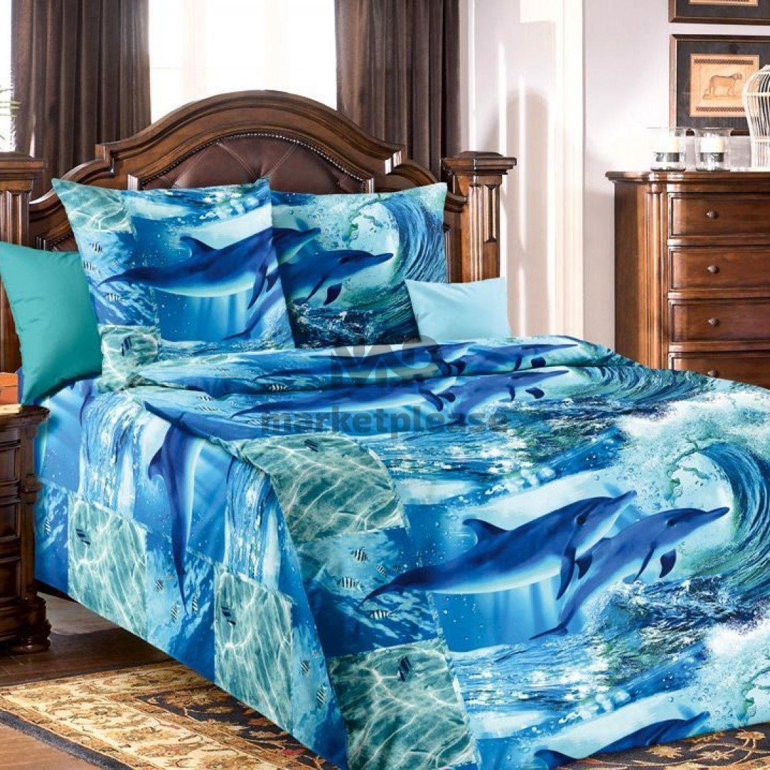 "Рулон ткани бязь ""Дельфинарий"" 150 см."