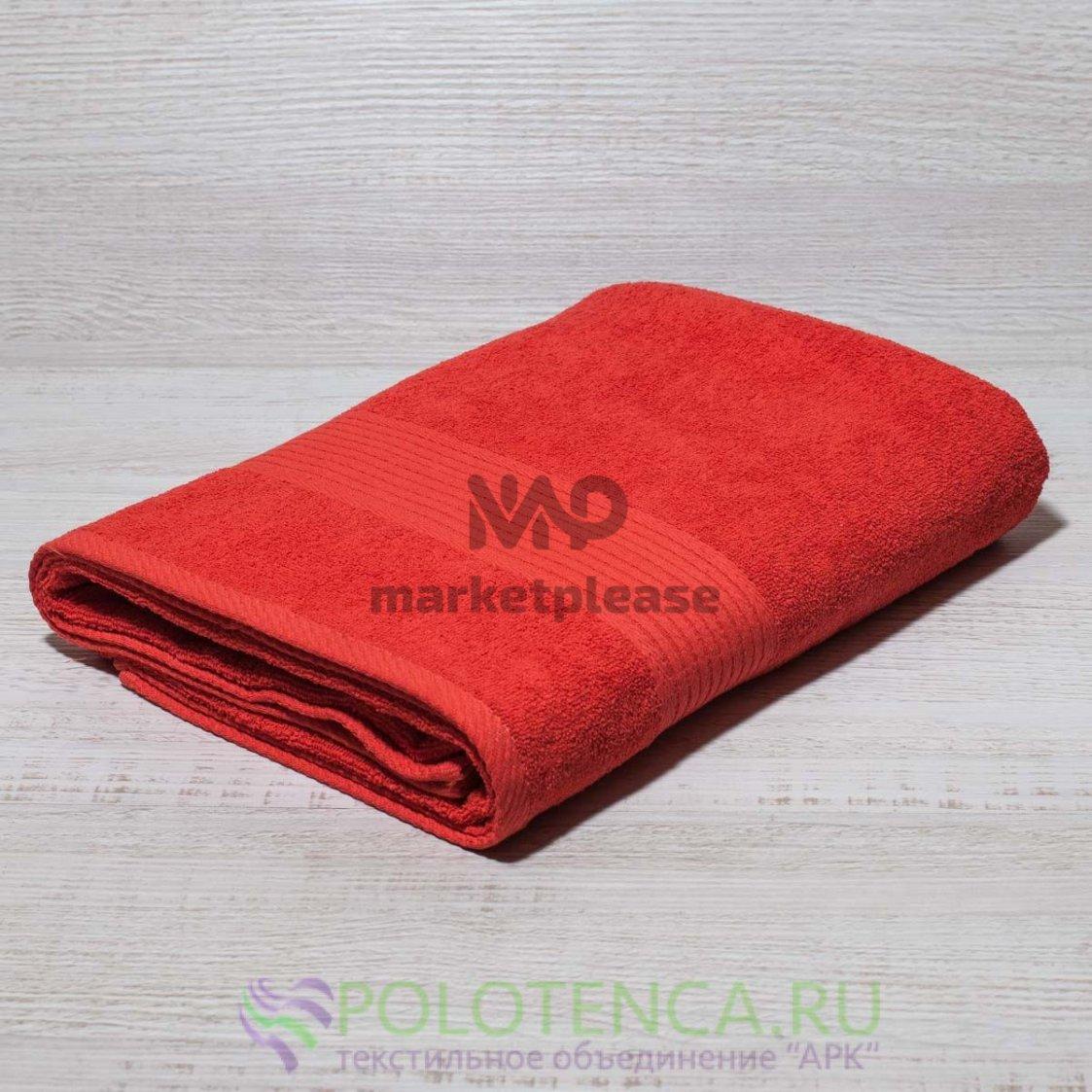 Полотенце махровое красное
