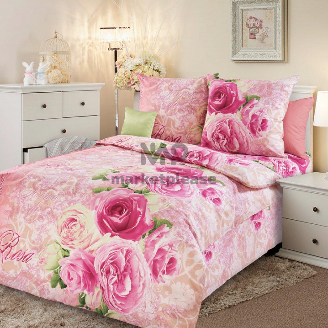 """Рулон ткани бязь """"Аромат розы 1"""" 150 см."""
